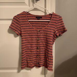 American Eagle Striped Button Shirt